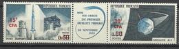 Réunion Poste   N°  369A  Triptyque  Fusée Diamant Satellite A1  Neuf *  * TB =  MNH  VF   Soldé  à Moins De 20 %  ! ! ! - Unused Stamps