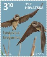 CROATIA 2019,EUROPA CEPT,BIRDS,VOGEL,ANIMALS, MNH - Pájaros