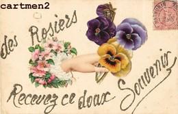 SAINT-MATHURIN-SUR-LOIRE SOUVENIR DES ROSIERS CARTE COLLAGE AJOUTIS FLEURS 49 MAINE--ET-LOIRE - Frankrijk