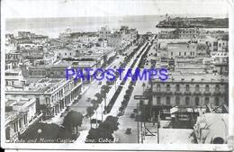 111840 CUBA HABANA PRADO AND MORRO CASTLE DAMAGED POSTAL POSTCARD - Unclassified