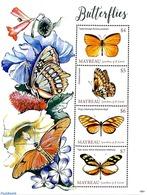 Saint Vincent Grenadines 2019 Mayreau, Butterflies 4v M/s, (Mint NH), Butterflies - Sellos