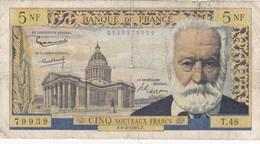 France - Billet De 5 Nouveaux Francs Type Victor Hugo - 2 Février 1961 - 5 NF 1959-1965 ''Victor Hugo''