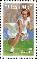 United States USA April 2019 Lil' Mo / Little Mo Tennis Player 1v Self-Adhesive MNH ** Unfolded - Tennis