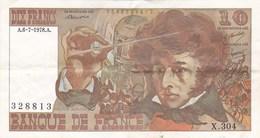 France - Billet De 10 Francs Type Hector Berlioz - 6 Juillet 1978 A - 1962-1997 ''Francs''