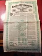 KINGDOM  OF  ROUMANIA   --------Obligation  De  10 £ - Actions & Titres