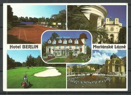 Tschechoslowakei MARIANSKE LAZNE Hotel Berlin Sent 2001 From Germany With Stamp - Hotels & Gaststätten