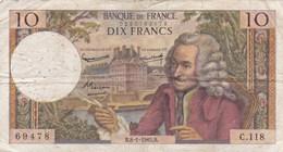 France - Billet De 10 Francs Type Voltaire - 8 Janvier 1965 B - 1962-1997 ''Francs''