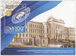 Georgia 2018 Mi# Bl 83 100 Years Tbilisi State University * * - Georgia