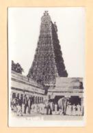 Vintage Real Photo Postcard Of Inside Of The Virupaksha Temple At Hampi, Karnataka, India, Lot # IND 616 - India