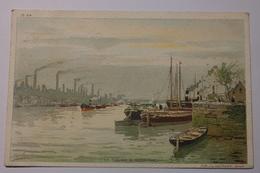 CPA Dessin La Meuse à Seraing 1914 - DAK14 - Seraing