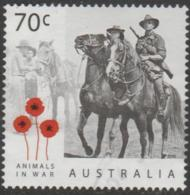AUSTRALIA - USED 2015 70c Animals In War - Horses - Mounted Soldiers - 2010-... Elizabeth II