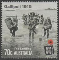 AUSTRALIA - USED 2015 70c Centenary Of World War I 1915: Gallipoli - The Landing - Soldiers - 2010-... Elizabeth II
