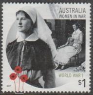 AUSTRALIA - USED 2017 $1.00 Women In War - Army Nurse - 2010-... Elizabeth II