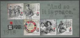 AUSTRALIA - USED 2018 $5.00 Centenary Of World War I 1918: Souvenir Sheet - 2010-... Elizabeth II