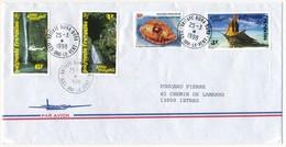 """POLYNESIE FRANCAISE - Enveloppe Affr. Composé, Oblitérée """"VAITAPE-BORA BORA / ILES SOUS LE VENT"""" 25-3-1998 - Lettres & Documents"""