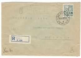 17015 - ZEMUN Recommandée - 1945-1992 République Fédérative Populaire De Yougoslavie