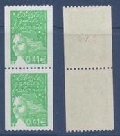 N° 3458 Et 3458a  Marianne Du 14 Juillet, Faciale 0,41 €x 2 Paire - 1997-04 Marianna Del 14 Luglio