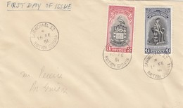 1951: FDC Carmichael, University College - Guyane (1966-...)