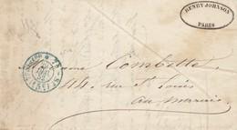 Frankreich: 1852: Brief Aus Paris - Ohne Zuordnung