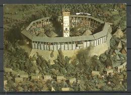 Deutschland LENZEN Museum Burg Diorama Mit Zinnfiguren Schlacht Um Lenzen (sent 1997, With 2 Stamps) - Geschichte