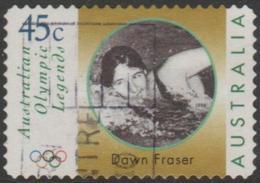 AUSTRALIA - DIE-CUT-USED 1998 45c Olympic Legends - Dawn Fraser Swimming - 1990-99 Elizabeth II