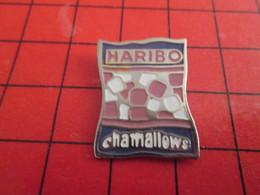1018b Pin's Pins / Rare Et De Belle Qualité / THEME ALIMENTATION : BONBONS HARIBO CHAMALLOWS 0% BIO - Alimentation