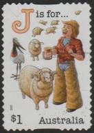 """AUSTRALIA - DIE-CUT-USED 2017 $1.00 Fair Dinkum Aussie Alphabet """"J"""" Is For Jillaroo, Jumbuck (sheep) - 2010-... Elizabeth II"""