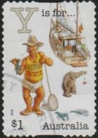 """AUSTRALIA - DIE-CUT-USED 2018 $1.00 Fair Dinkum Aussie Alphabet """"Y"""" Is For Yabby, Yacht, Y-Front (underpants) - 2010-... Elizabeth II"""