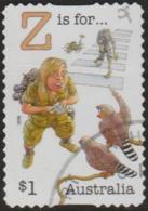 "AUSTRALIA - DIE-CUT-USED 2018 $1.00 Fair Dinkum Aussie Alphabet ""Z"" Is For Zoologist, Zebra Finches (birds) - 2010-... Elizabeth II"