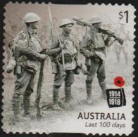 AUSTRALIA - DIE-CUT-USED 2018 $1.00 Centenary Of World War I 1918: Last 100 Days - 2010-... Elizabeth II