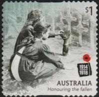 AUSTRALIA - DIE-CUT-USED 2018 $1.00 Centenary Of World War I 1918: Honouring The Fallen - 2010-... Elizabeth II