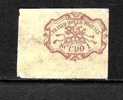 507 - ITALIA - ASI - CHIESA - EGLISE - 1852 - HIGH VALUE - OLD FORGERY - FAUX - FAKE - FALSOS - Timbres