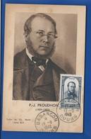 Carte P.J PROUDHON Avec Timbre N° 799 Oblitération : Besancon 19/9/1948 - Famous People