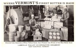 Vermont  East Hardwick , Lamoille Valley Co-Operative Creamery - United States