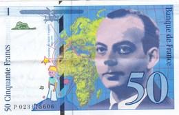 France - Billet De 50 Francs Type Antoine De Saint-Exupéry - 1994 - 1992-2000 Laatste Reeks