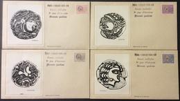 D421 Monnaie Gauloise 4 Lettres Premier Jour Préo 139-141-143-145 1/7/1976 Bartok - Precancels