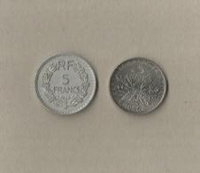 2 Verschillende Munten Van 5 Francs - Frankrijk / France - France