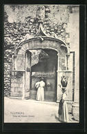 Cartolina Taormina, Porta Del Palazzo Corvaja - Italia