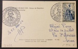 D422 La Roche Sur Yon Cent Cinquantenaire Napoléon Vendée 5 Prairial An XII 956 Célimène 22-23/5/1954 CPA  Bergevin Napo - Postmark Collection (Covers)