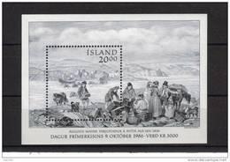 Islande Bloc N° 7 Neuf Jounée Du Timbre 1986 - Blocs-feuillets