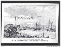Islande Bloc N° 8 Neuf De 1987 Bateaux - Blocs-feuillets