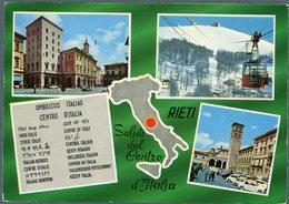 °°° Cartolina N. 3 Rieti Vedutine Viaggiata Con Annullo Speciale °°° - Rieti