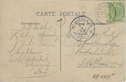 Tieghem.  -   Chapelle De St. Arnould.   -   Mooi Kaartje!   -  1912  Naar   St. Niklaas (Waas) - Anzegem