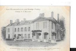 SAINT  HILAIRE DE LOULAY  CHATEAU DE LA MUSSETIERE  GROS PLAN TIRAGE 1900      DEPT 85 - France