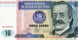 Billet De Banque Du Pérou 10 Intis, Type Ricardo. Palma Du 26 Juin 1987 - Neuf - Peru
