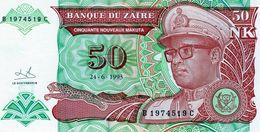 Billet De Banque Zaïre 50 Nouveau Makuta, Type Mobutu Du 24 Juin 1993 - Neuf - Zaire