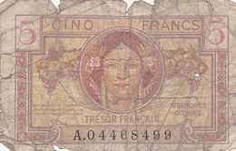 France - Billet De 5 Francs - Trésor Français - Territoires Occupés - Treasury