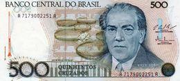 Billet De Banque Central Du Brésil 500 Cruzados Type Villa Lobos Non Daté 1987 Neuf - Brazil
