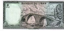 Billet De Banque Du Liban 5 Livres - Type 1964 - 1986 Neuf - - Lebanon