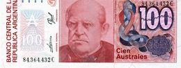 Billet De Banque Central De La République Argentine 100 Australes Non Daté 1985/90 - Neuf - Argentina